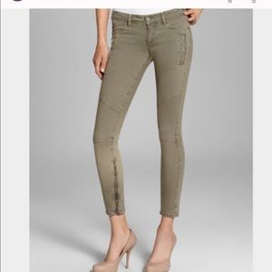 Paige Marley Green Skinny Jeans